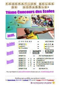 Affiche du Concours des Ecoles - Saison 2012-2013