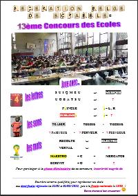 Saison 2014-2015 - Inscription au 'Concours des Ecoles' jusqu'au 7 novembre ! dans